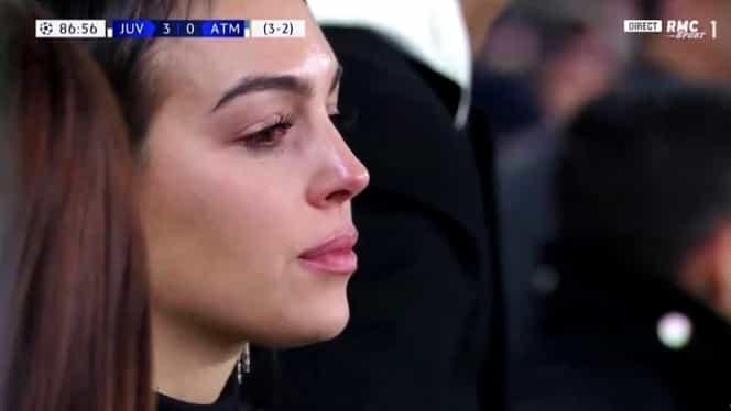 Iubita lui Cristiano Ronaldo, în lacrimi după tripla portughezului în Juventus – Atletico Madrid 3-0! Imagini incredibile cu Georgina Rodriguez! Video