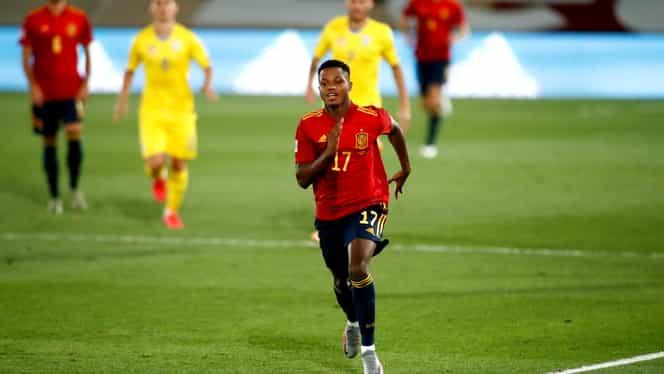 Povestea incredibilă a lui Ansu Fati, cel mai tânăr marcator din istoria Spaniei! Ce recorduri a mai doborât jucătorul Barcelonei