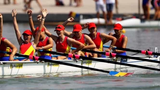 Echipajul de 8+1 al României a luat AURUL la Europene