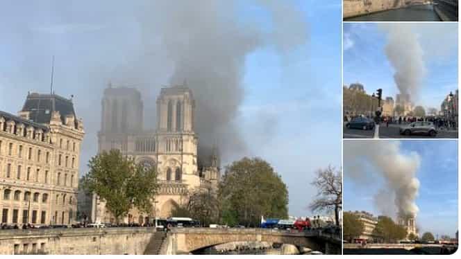 Catedrala Notre Dame din Paris, în flăcări! Ce se întâmplă acum la fața locului FOTO