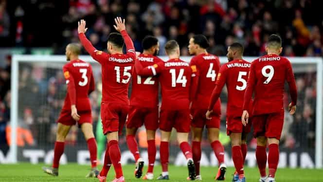 """Liverpool a egalat recordul lui Nottingham Forest la numărul de meciuri consecutive fără înfrângere în Anglia! """"Cormoranii"""" îi pot depăşi şi pe Arsenal pe 11 aprilie"""