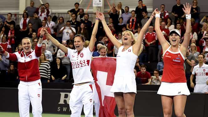 Elveţia, doar trei jucătoare convocate pentru barajul de FedCup cu România