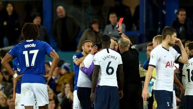 Cartonașul roșu primit de Heung-Min Son, după faultul asupra lui Andre Gomes în meciul Everton – Tottenham, a fost anulat