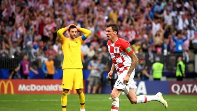 Gol Mandzukic în Franţa-Croaţia! Ce eroare Lloris în finala CM! Video