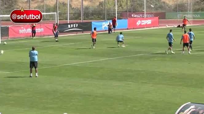 VIDEO / Pedro a reuşit cel mai tare gol din viaţă la antrenament