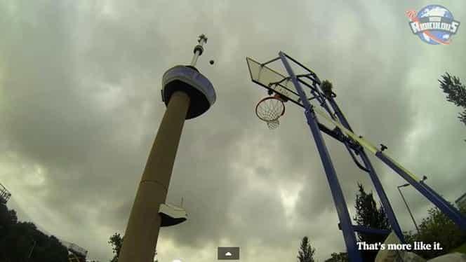 VIDEO / A dat coş de la aproape o sută de metri