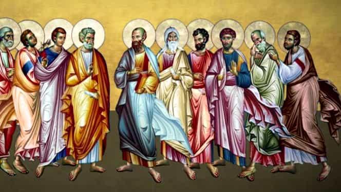 Sărbătoare mare marţi, 30 iunie. Soborul celor 12 Apostoli, în Calendarul Ortodox