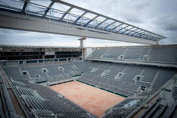 Construcţiile avansează la acoperișul arenei Philippe-Chatrier! Lucrările vor fi gata pâna la startul Roland Garros 2020