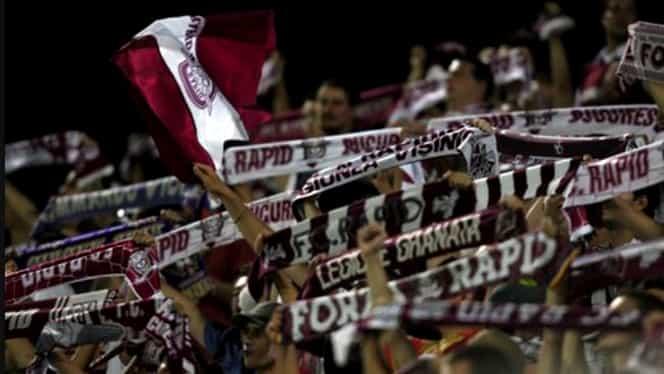 """Surpriză! Rapidiştii au pus banner pe stadionul rivalilor: """"Rapid nu moare niciodată!"""""""