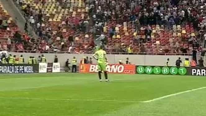 Video. Un fan rapidist a gonit pe teren spre peluza Stelei! La un pas de o nouă bătaie. Jandarmeria a intervenit în forţă