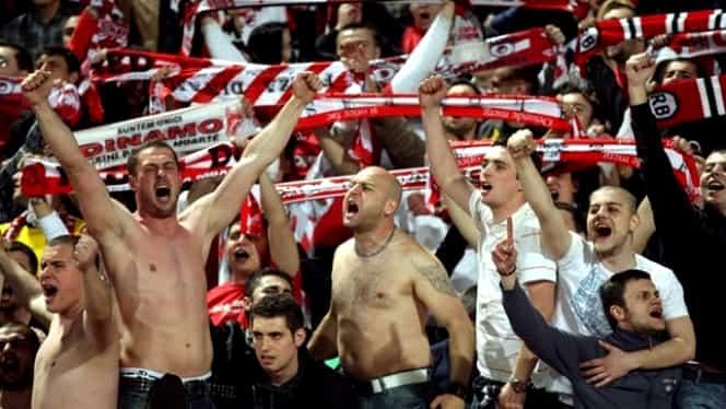 Fanii lui Dinamo nu au ţinut momentul de reculegere în memoria lui Cristian Ţopescu