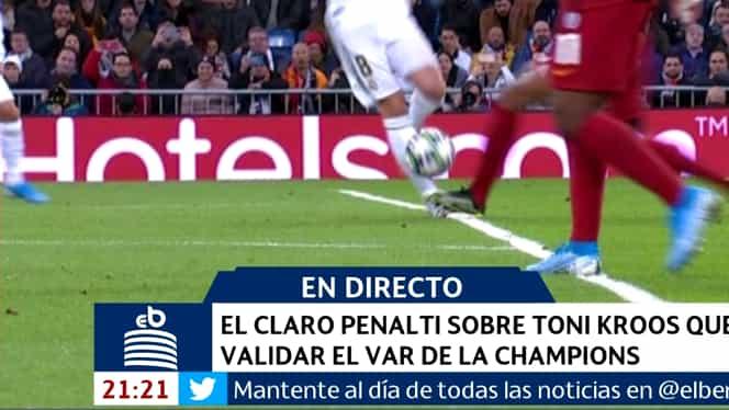 Doar cu VAR vedea aşa penalty! Fault pe linia careului în Real Madrid – Galatasaray