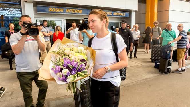 Simona Halep a plecat la Cluj alături de Darren Cahill într-un avion low-cost! A fost primită cu flori în Ardeal
