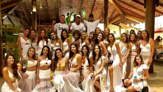 Neymar a petrecut Revelionul în Brazilia, alături de 26 de femei. Galerie Foto