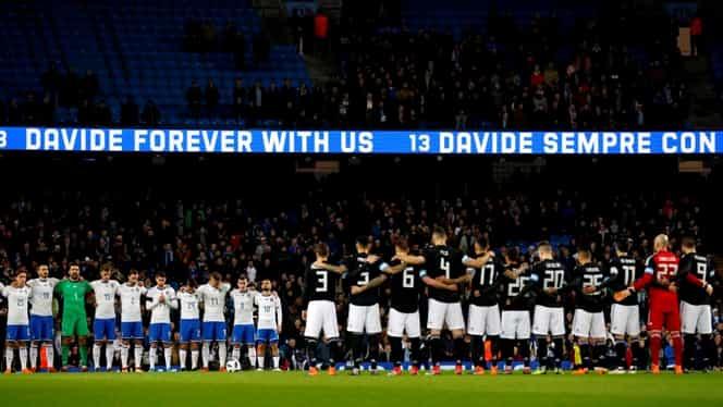 Video. Fără respect! Fanii englezi au stricat momentul de reculegere dedicat lui Astori