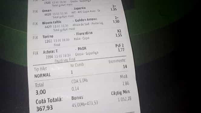 Bilet pariuri cota 500 pentru weekend: 13 ponturi tari, inclusiv din Liga 1 Betano