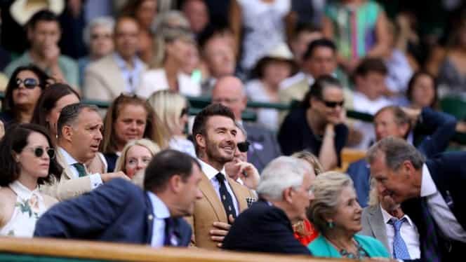 David Beckham a venit s-o vadă pe Simona Halep în semifinale la Wimbledon 2019