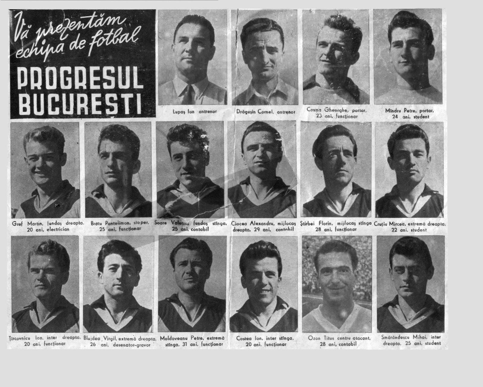 Titus Ozon la Progresul București, al doilea din dreapta pe ultimul rând de jos. A jucat la Progresul 3 ani, între 1955 și 1958
