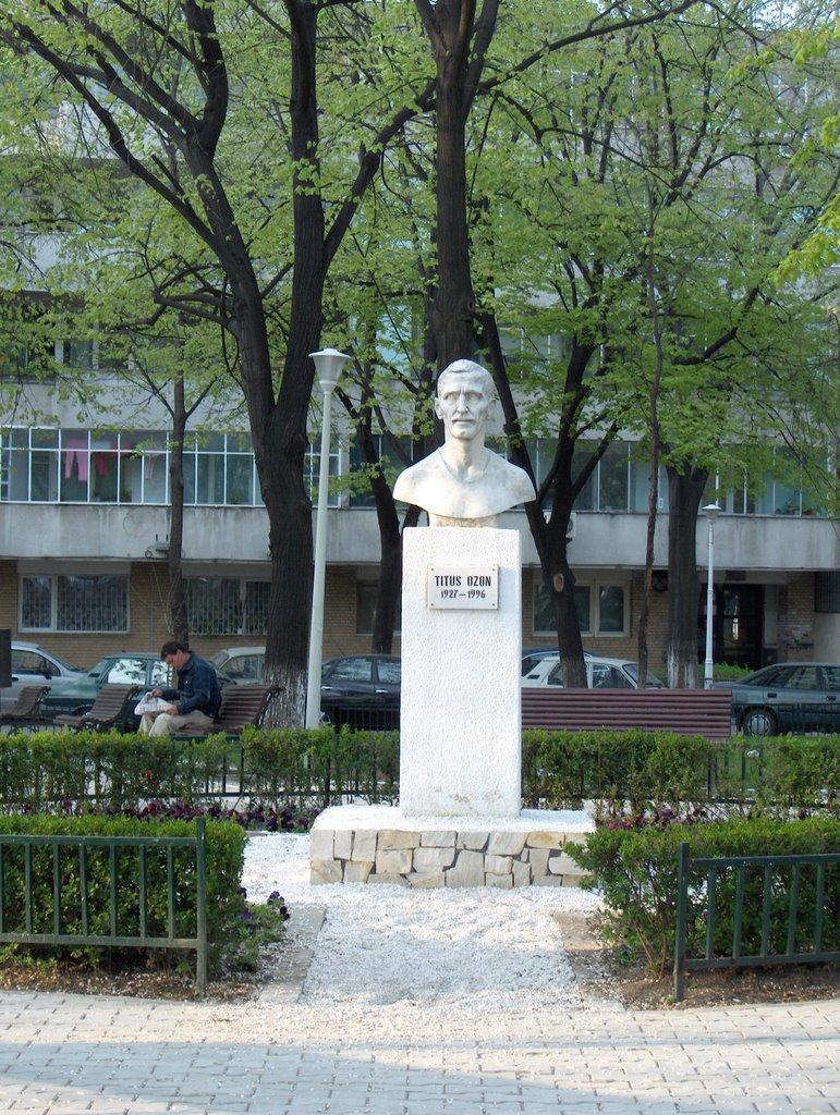 Titus Ozon a fost onorat de primăria Sectporului 2 cu un bust în parcul care-i poartă numele lângă Gara de Est (Gara Obor), pe locul unde era odinioară stadionul Unirii Tricolor