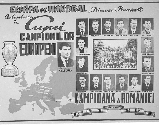 Dinamo câștiga în 1965 Cupa Campionilor Europeni la handbal masculin, după ce învingea în finală echipa iugoslavă Medvescak Zagreb