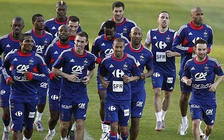 Franţa la Campionatul Mondial din 2010