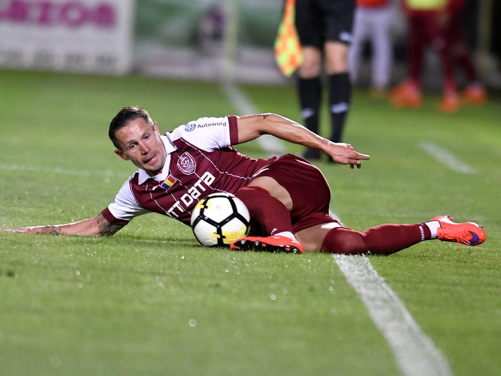 Ciprian Deac în meciul de fotbal dintre Astra Giurgiu şi CFR Cluj, contând pentru play-off-ul Ligii 1 Betano