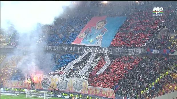 Coregrafie Steaua, la Dinamo-Steaua în Cupa României, 17 aprilie 2014