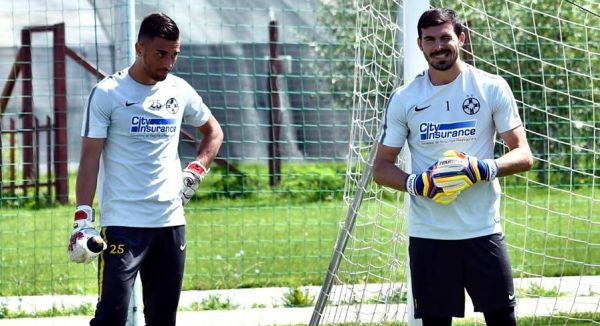 Toma Niga şi Florin Niţă la un antrenament susţinut la baza sportivă din Berceni a FCSB-ului