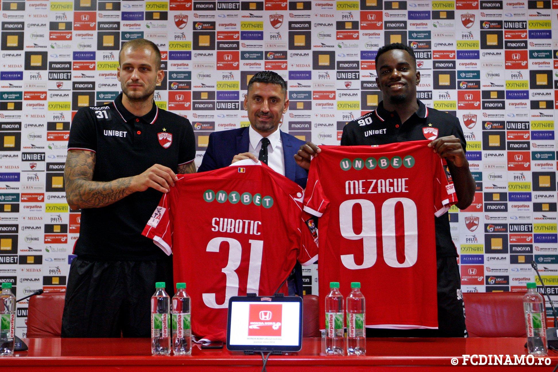 Danijel Subotic, declaraţie războinică după ce a fost prezentat oficial la FC Dinamo Bucureşti. Atacantul în cadrul unei conferinţe de presă alături de Ionel Dănciulescu şi Teddy Mezague