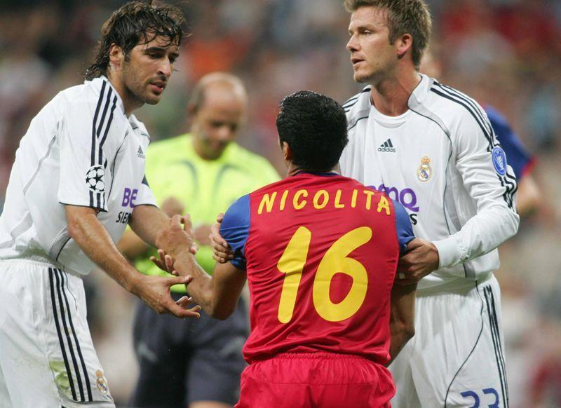 Bănel Nicoliță a fost consolat de Raul și de Beckham după autogolul antologic de pe Santiago Bernabeu, din Real Madrid - Steaua 1-0