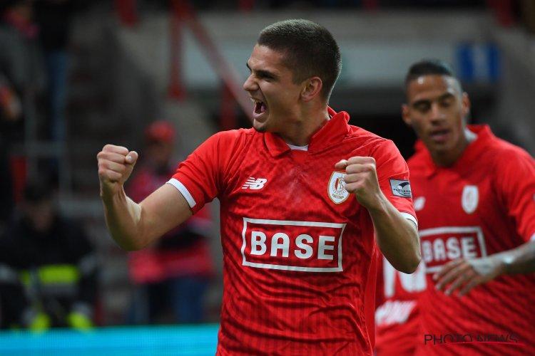 Răzvan Marin se bucură după un gol marcat pentru Standard Liege