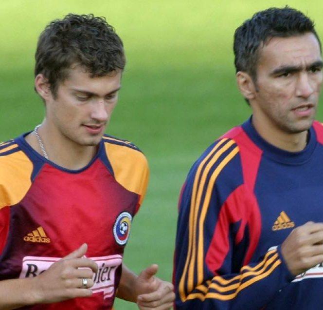 Gabriel Tamaș și Adrian Iencsi pe vremea când erau colegi la națională