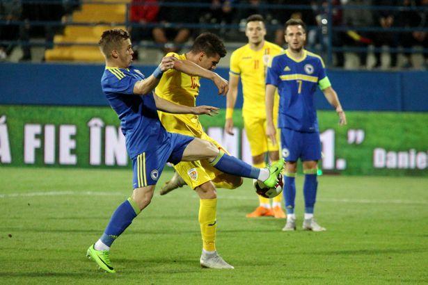 Cum l-a ratat FCSB pe Adrian Petre, atacantul naționalei de tineret! Adrian Petre în echipamentul naționalei