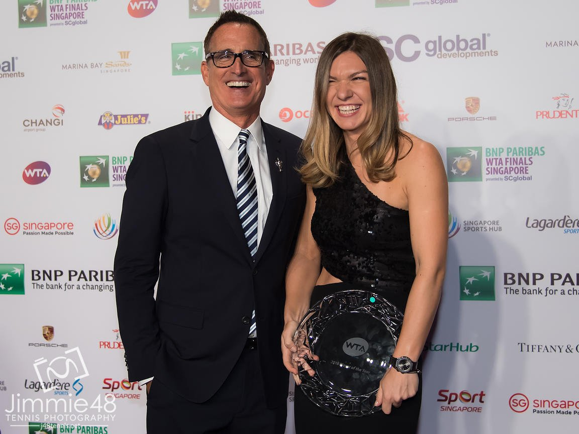 Simona Halep este foarte apriopiată de Andrew Krasny, co-hostul WTA la toate evenimentele majore din circuitul WTA