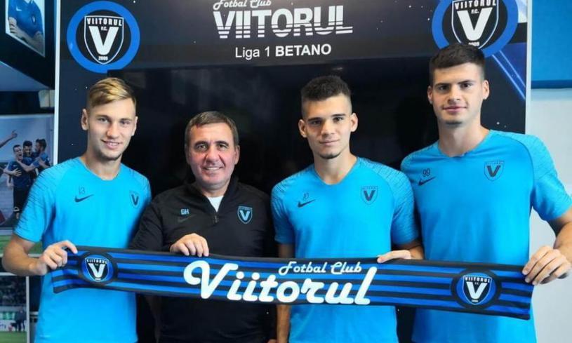 """Tudor Băluță (primul din dreapta), printre """"perlele"""" lui Gică Hagi, Ianis Hagi și Denis Drăguș (primul din stânga). Și nu sunt singurele din """"fabrica de fotbaliști"""" a """"Regelui""""..."""