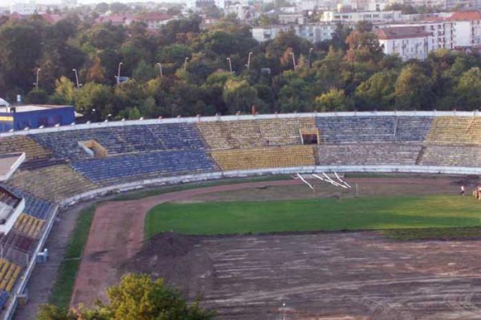 Așa arată acum stadionul Municipal din Bacău