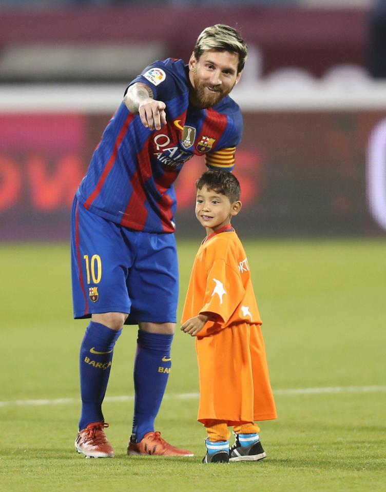 Murtaza l-a întâlnit pe Messi în Qatar, în 2016