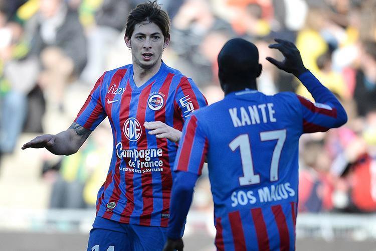 Emiliano Sala şi N'Golo Kante au fost colegi la Caen în 2015