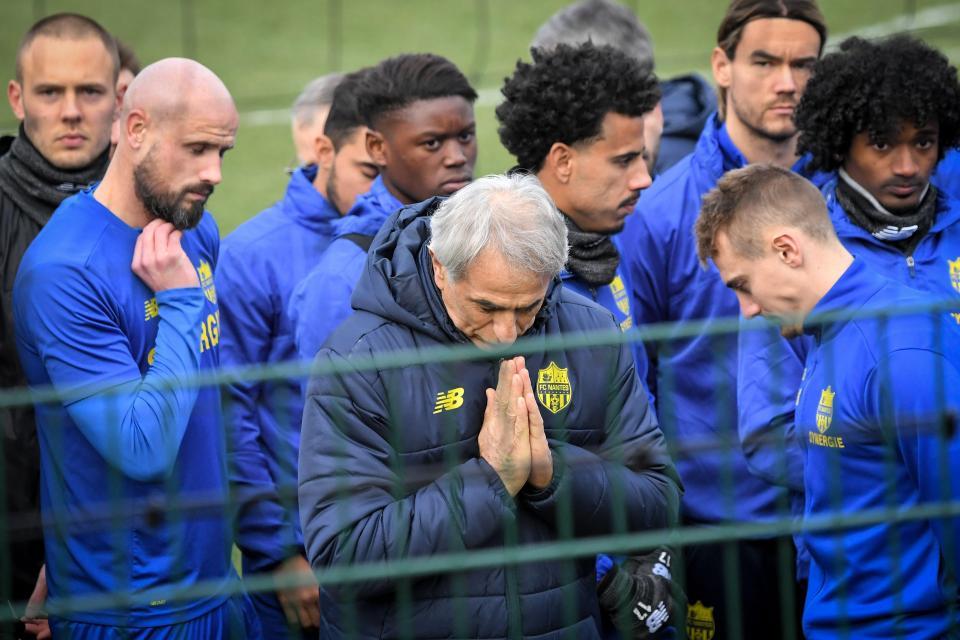 Jucătorii lui Nantes s-au rugat pentru Emiliano Sala