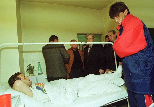 Marius Lăcătuş l-a vizitat la spital pe Vasile Ardeleanu