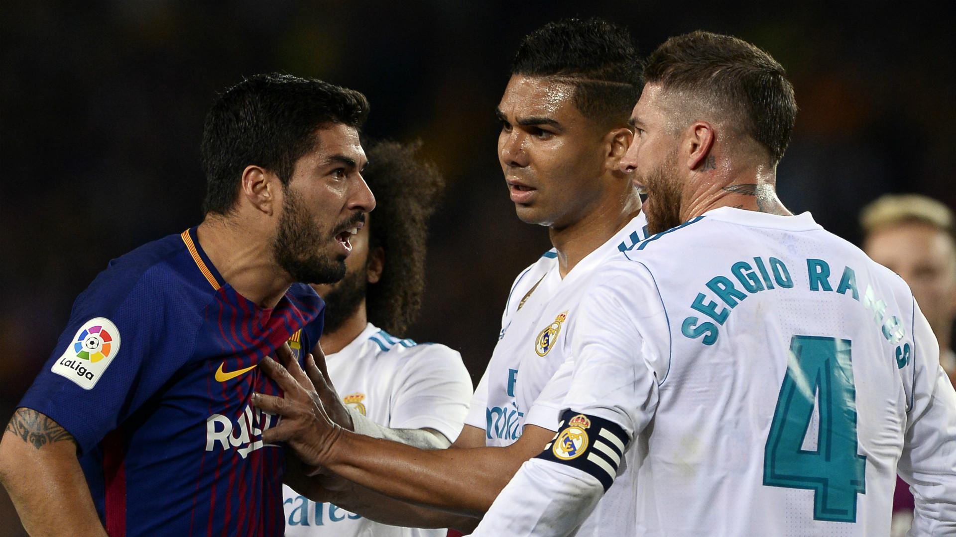 Luis Suarez se ceartă cu Sergio Ramos sub privirile lui Casemiro