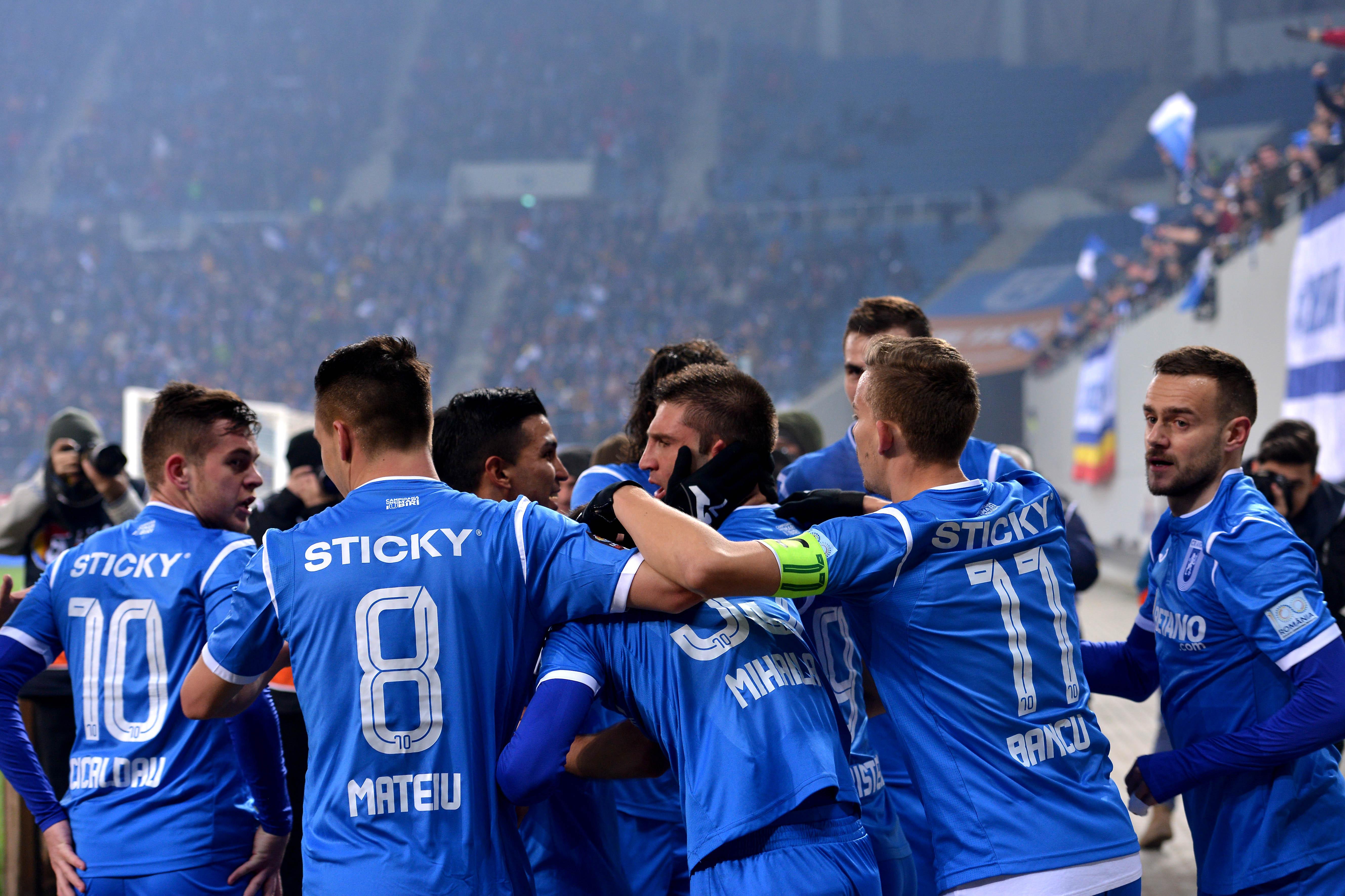 Andrei Crstea a jucat trei meciuri şi a marcat un gol pentru U Craiova