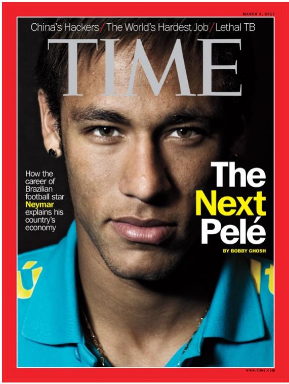Neymar pe coperta revistei Time. Nici un alt sportiv brazilian nu a mai avut această onoare