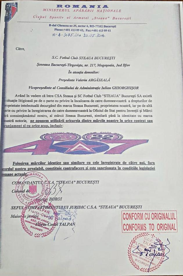 Actele depuse de Talpan în procesul pentru palmares dintre Steaua şi FCSB! Acte
