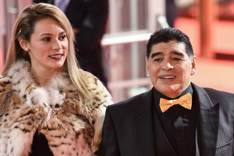 Diego Maradona cu ultima sa logodnică, Roccio Olivo
