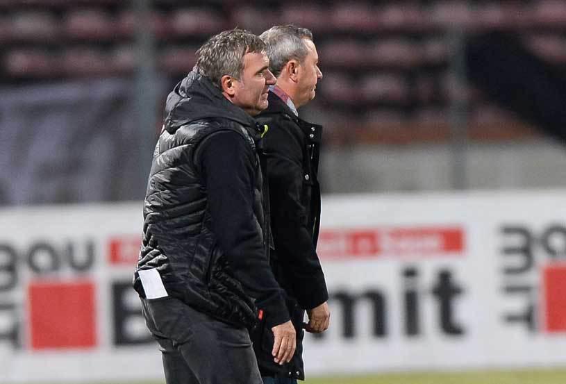 Gică Hagi și Mircea Rednic