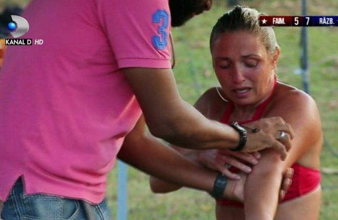 Andreea Arsine s-a accidentat și a avut nevoie de îngrijiri medicale la Exatlon