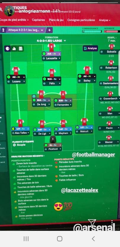 Antoine Griezmann, antrenorul lui Arsenal, îl are în lot pe Dennis Man