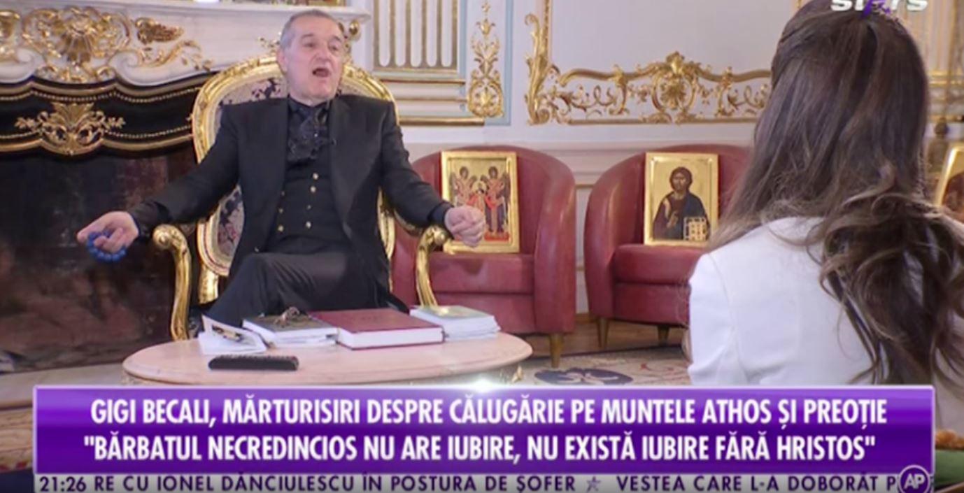 Cum a făcut-o Gigi Becali să plângă pe fiica lui Anghel Iordănescu, în timp ce îi vorbea despre titlu și Evanghelii! Maria şi Becali