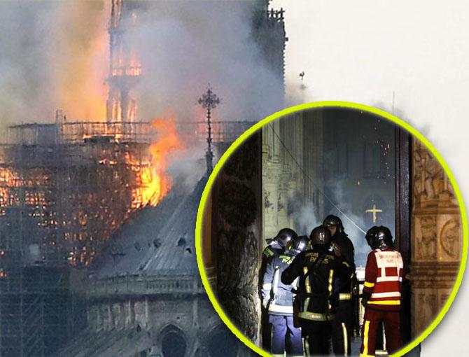Imagini din interiorul catedralei Notre-Dame, DUPA incendiu! Minune! Ce au gasit la interior, printre ruine
